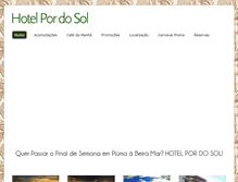 Tablet Preview of hotelpordosol.com.br